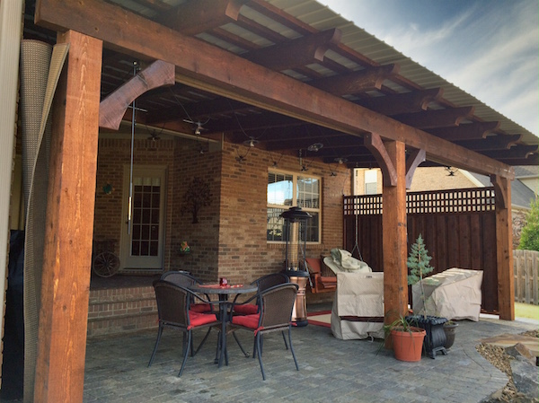 Pergola Tin Roof Deckbuilders