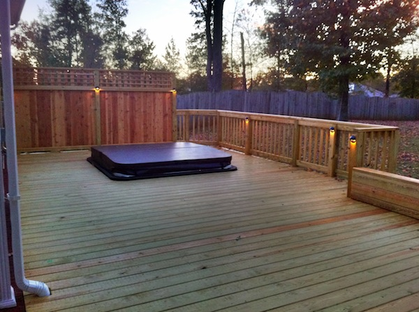 how to build a tub deck