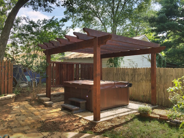 Cedar Hot Tub Pergola w Adjustable Louvered Privacy - Cedar Hot Tub Pergola W Adjustable Louvered Privacy Blog
